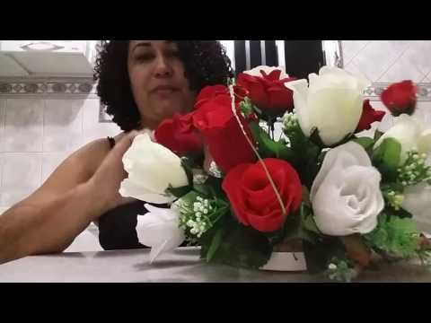 Como Fazer Arranjos De Flores Artificiais Youtube Arranjos De