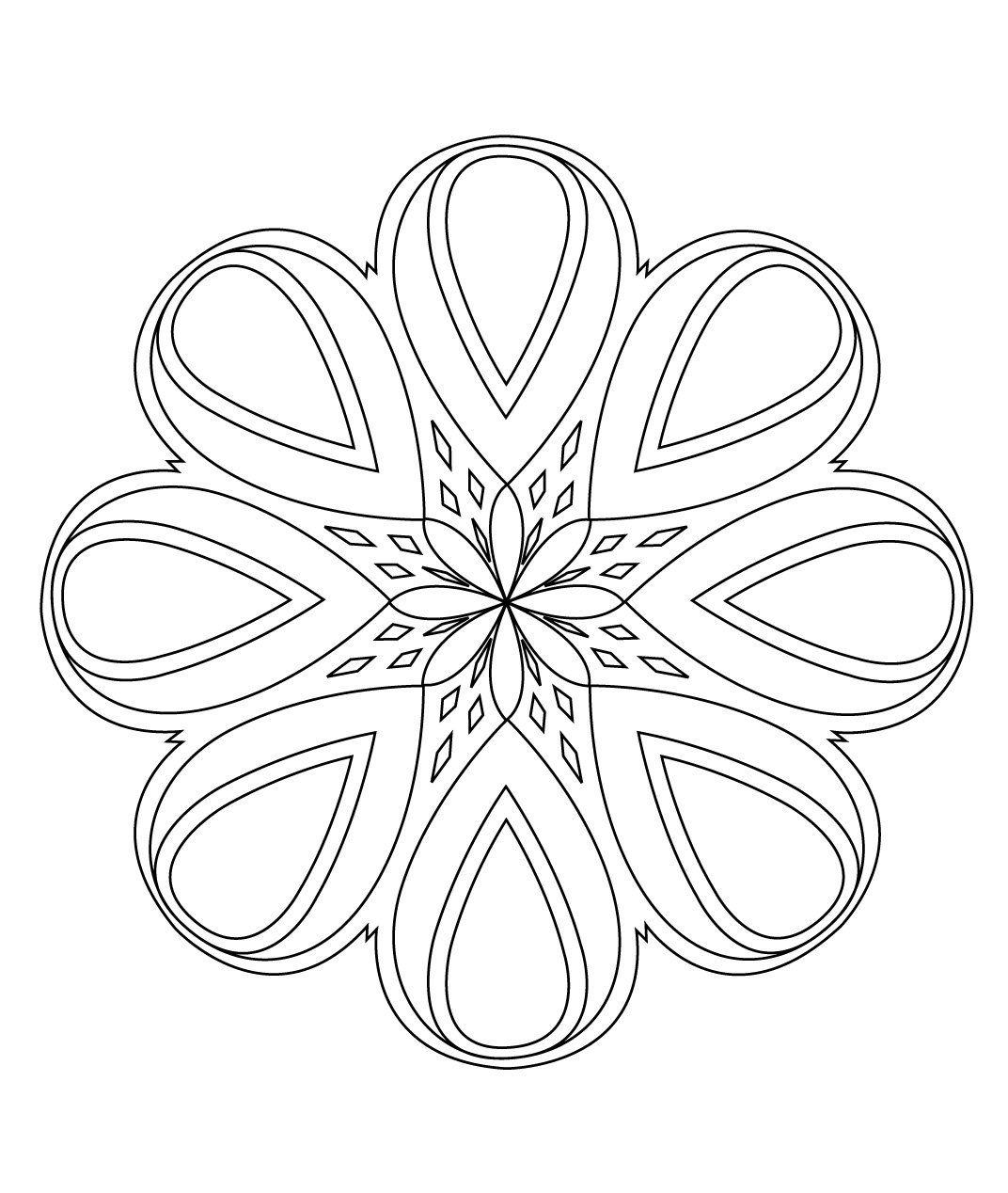 Stci coloriage pour adultes et enfants mandalas a emb mandalas dot rangoli mandala - Mandala adulte ...