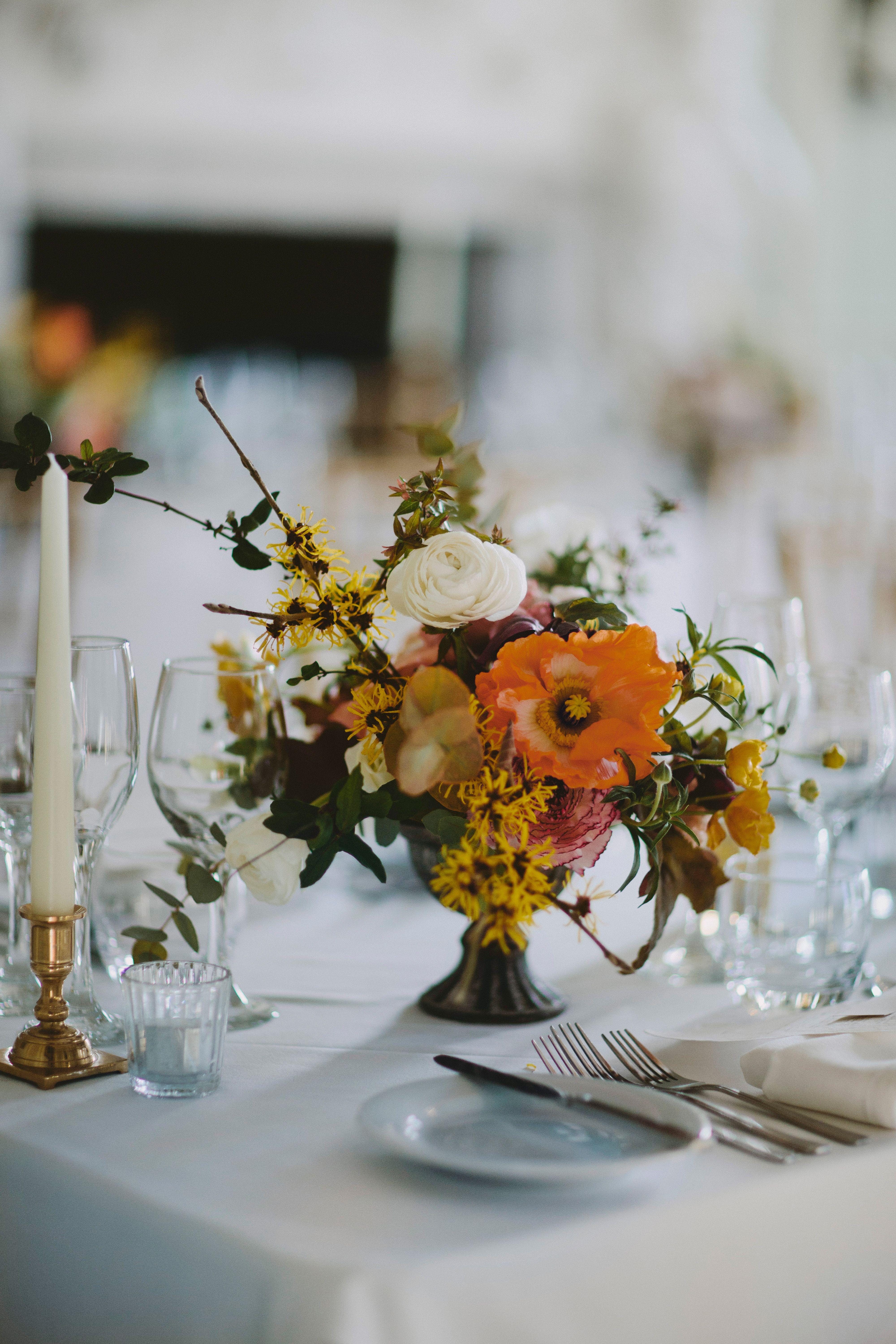 Orange Yellow And Cream Wedding Flowers For A Spring Summer Wedding