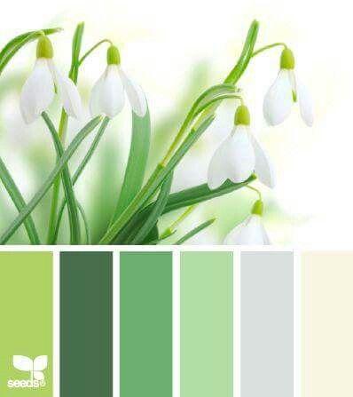 Spring Paint Colors green white pallette | green paint colors | pinterest | color