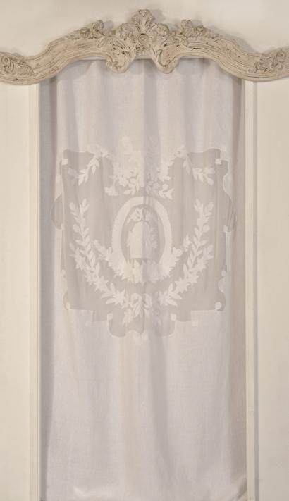 rideau ancien blanc et lin pinterest. Black Bedroom Furniture Sets. Home Design Ideas