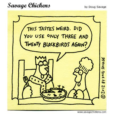 Classic recipes reverberate through time as in this #SavageChickens  #comic.  https://twitter.com/140letterrecipe