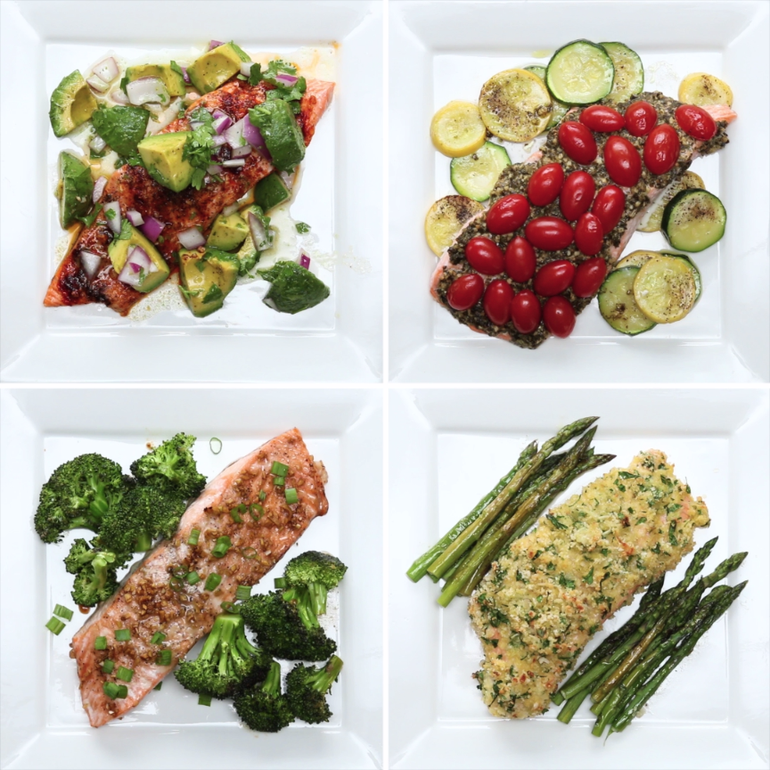 One-Pan Salmon 4 Ways