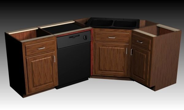 Corner Kitchen Sink Cabinet Base Zitzat