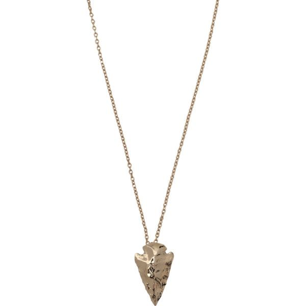 Pamela Love Mini Arrowhead necklace ($63) ❤ liked on Polyvore featuring jewelry, necklaces, accessories, pamela love necklace, pamela love jewelry, pendant chain necklace, pendant necklace and chain necklace
