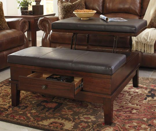 Gately Brown Lift Top Storage Ottoman In 2019 Sofa End Tables
