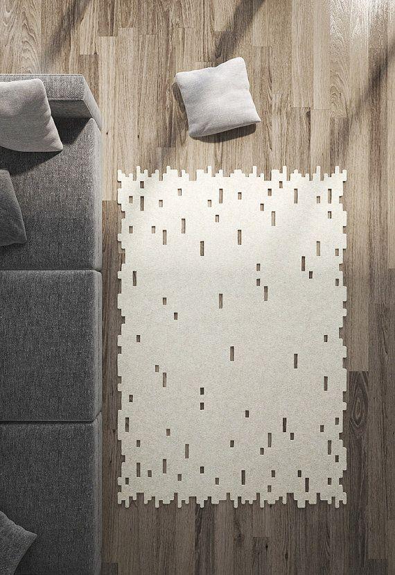 Alfombra alfombras modernas alfombras minimalista lana fieltro alfombra hecho por encargo - Alfombras minimalistas ...