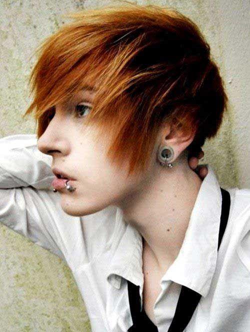two colored emo boy haircut
