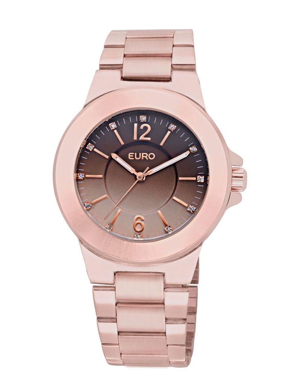 64e59865b4b Relógio Feminino Analógico Euro Menen EU2035QT 4T - Rose Gold - Relógios no  E-Euro