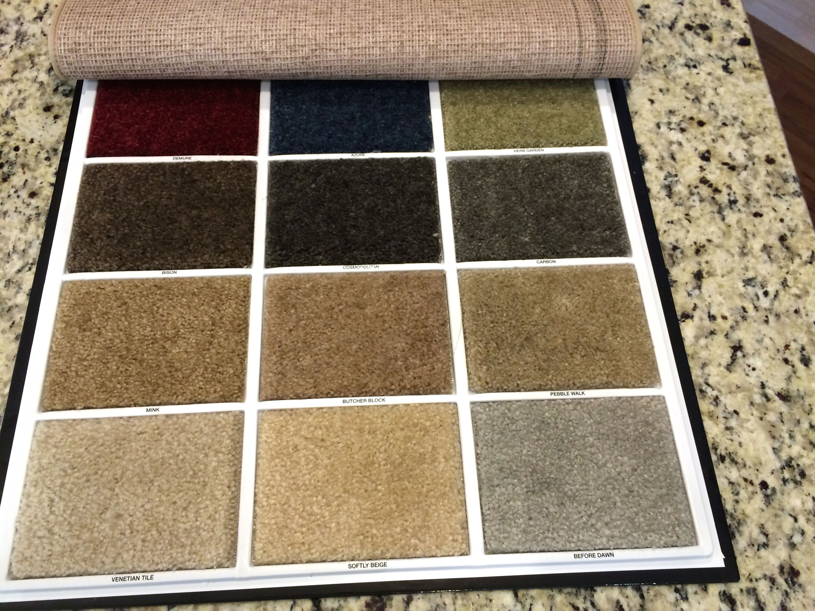 CARPET: In Upstairs Bedrooms And Loft. Carpet Color Choices   Standard.  Need To