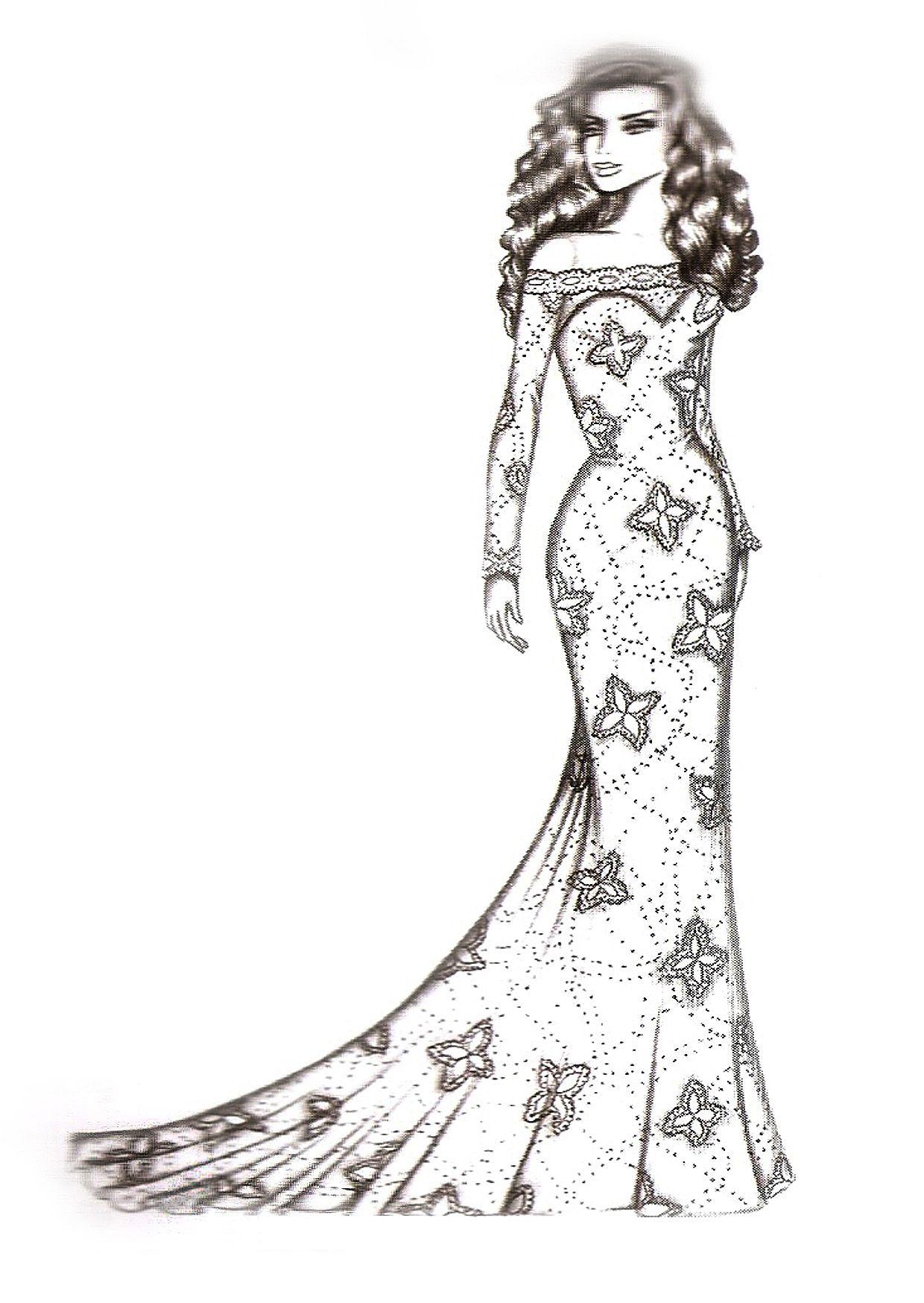 Vestido De Noiva Princesa Desenho Pesquisa Google