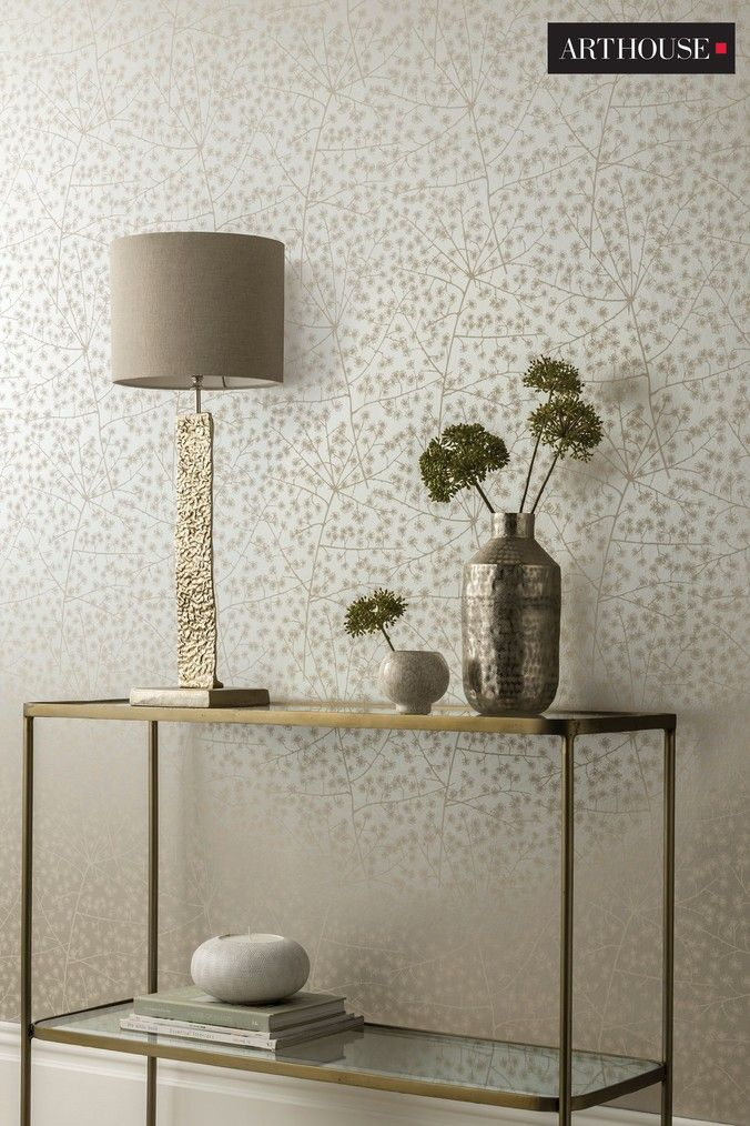 Buy Arthouse Catkin Metallic Floral Wallpaper from the