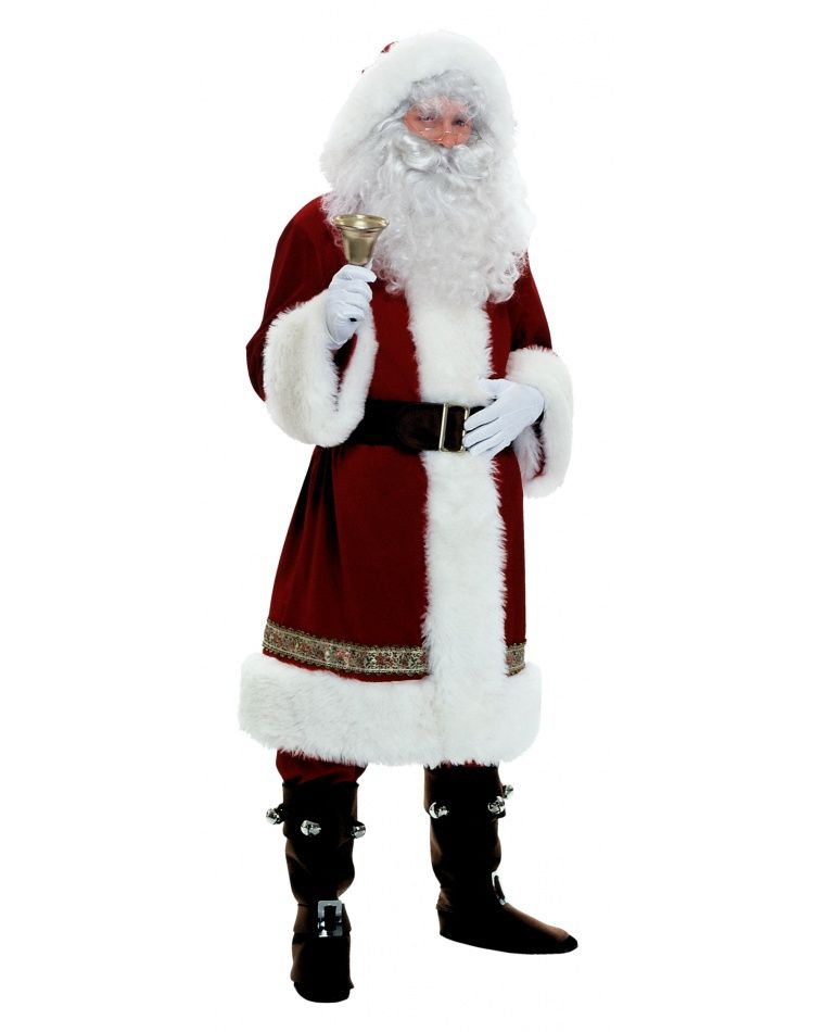 Mens Cool Santa Suit Christmas Xmas Fancy Dress Adults Party Outfit