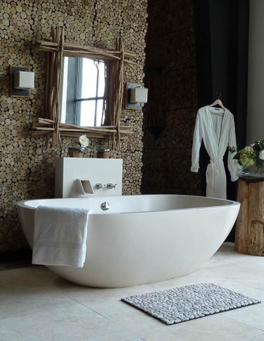 appealing natural bathroom design | Freestanding Bathroom Tubs Define Luxurious Trends in ...