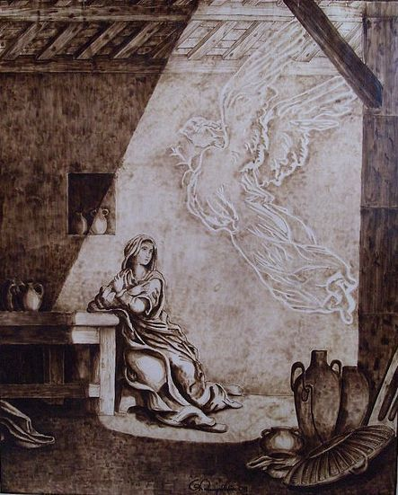 Annunciation Gustave Dore Avec Images Pyrogravure