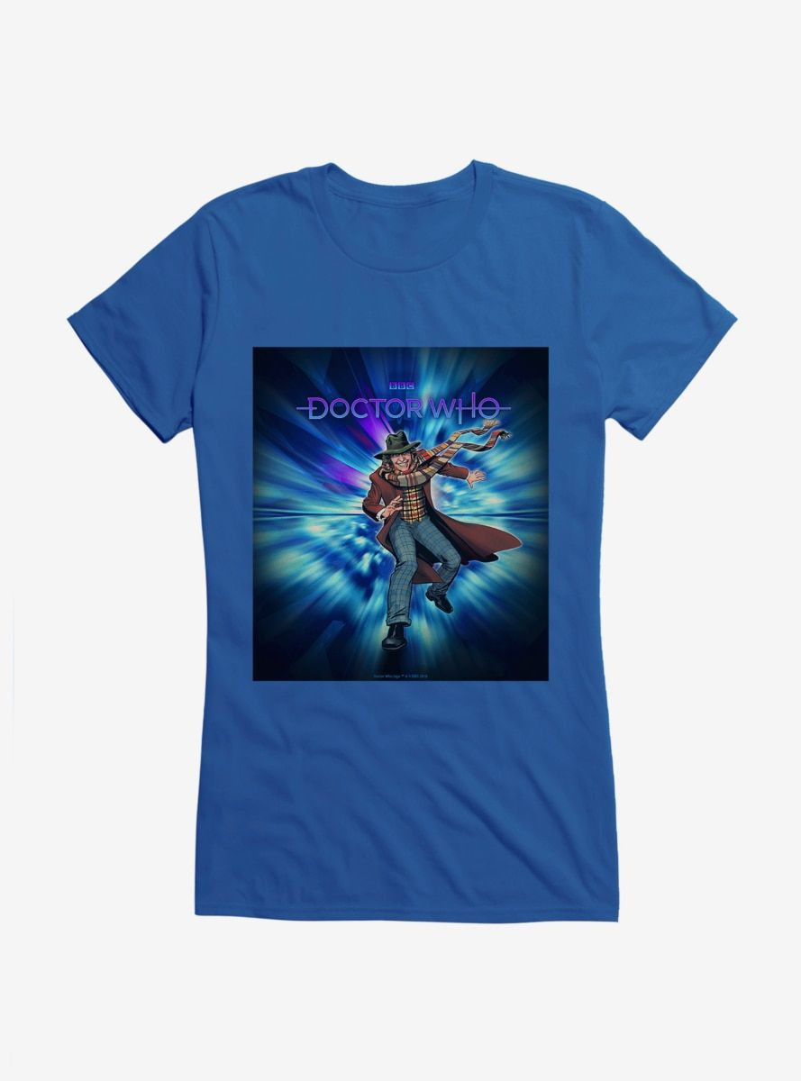 Doctor Who The Fourth Doctor And Epic Adventurer Girls T-Shirt