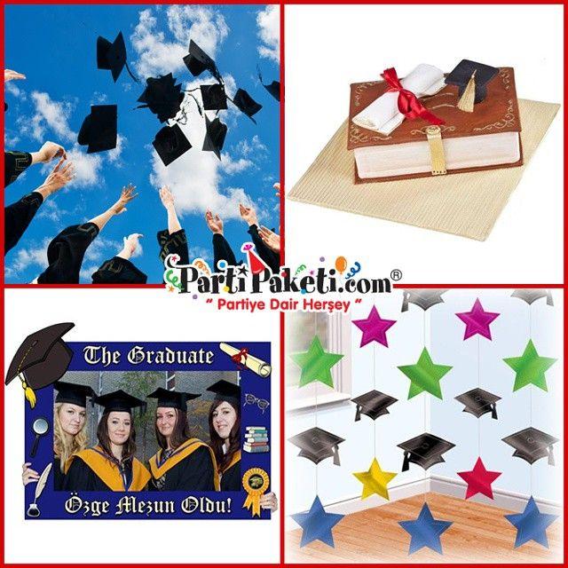 Mezuniyet partinizi okul balolarıyla sınırlandırmayın. Parti paketi mağazalarına uğrayın mezuniyet partisine dair birbirinden farklı malzemeler sahip olun, kendi partinizi kendiniz düzenleyin.