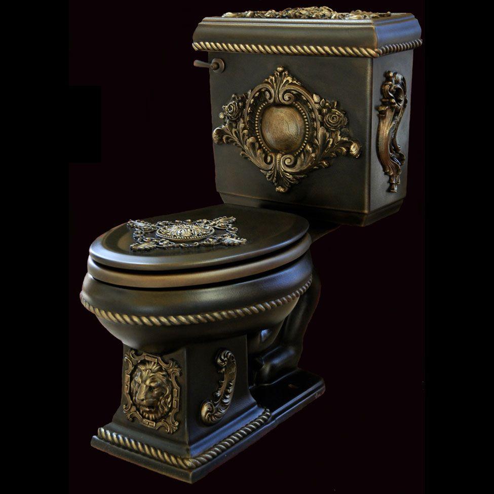 renaissance toilets ~ art metal deco | toilet, gothic and dark colors