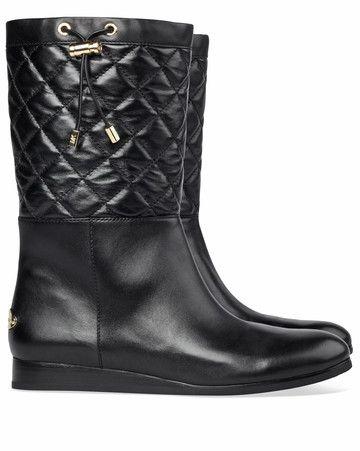 85525e6933a Michael Kors laarzen Lizzie Quilted booti black koop je online bij  MooieSchoenen.nl