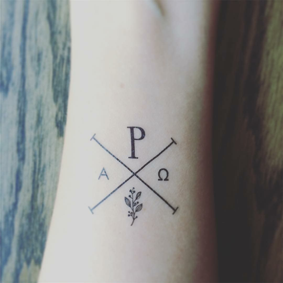 Inside Of Right Wrist Make It A True Chi Rho Maybe Leave Out The Olive Branch Tattoos With Meaning Small Tattoos Small Wrist Tattoos