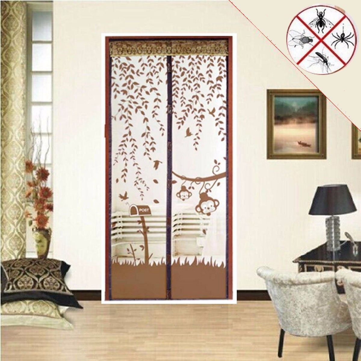 Magic Curtain Door Mesh Net Screen Magnetic Anti Mosquito