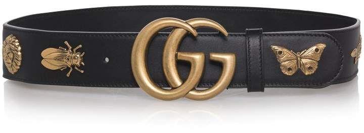 c95d461aa75 Gucci GG Animal Stud Leather Belt