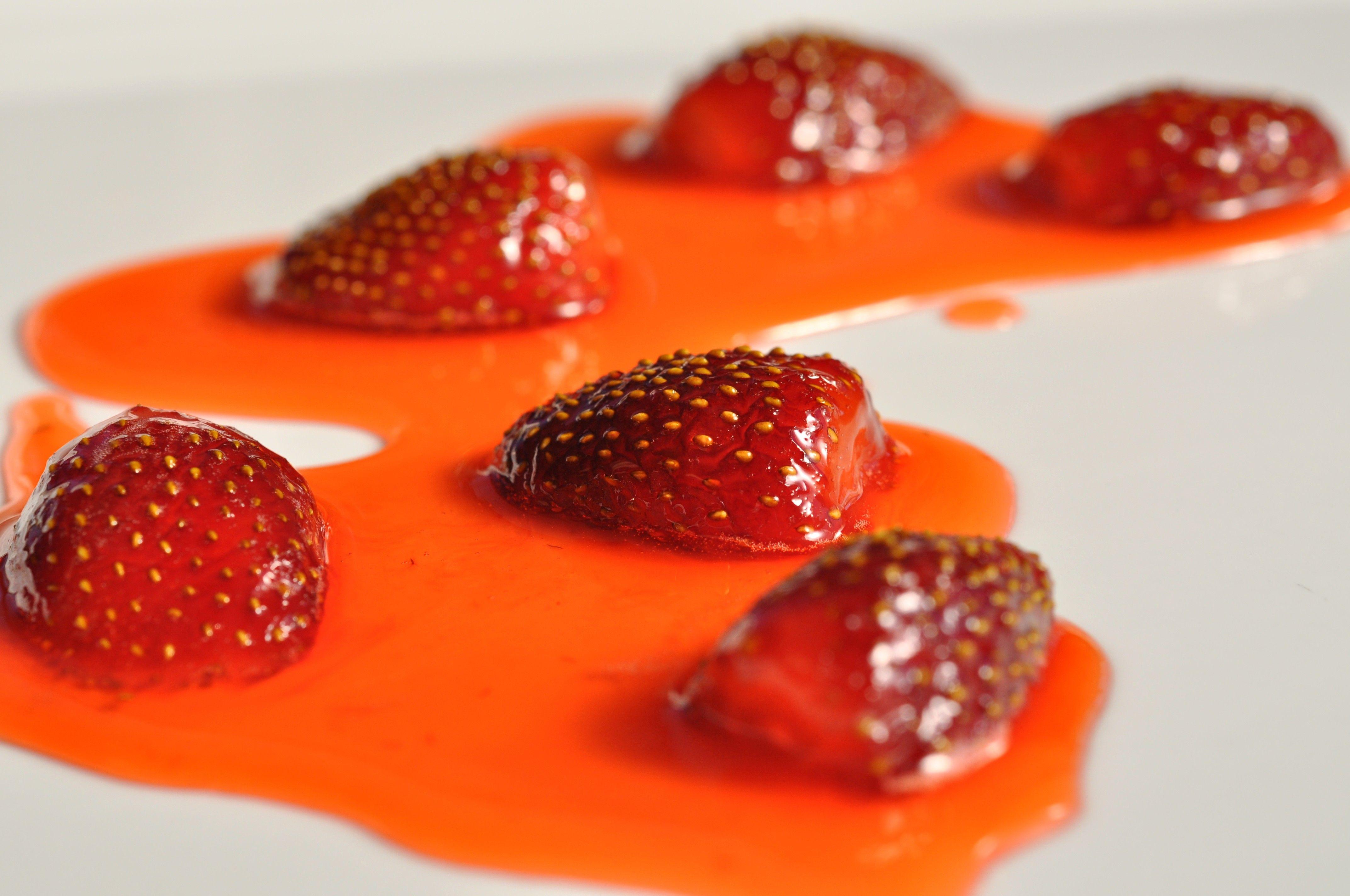 Semi Candied Strawberries