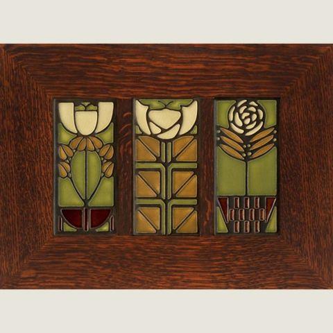 Framed 4x8 Dard Hunter Trio Olive Arts Crafts Style Arts And Crafts Furniture Art And Craft Design