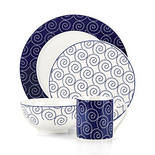 Dinnerware  sc 1 st  Pinterest & Lenox Emeril 16-Piece St. Louis Dinnerware Set Blue Lenox http ...