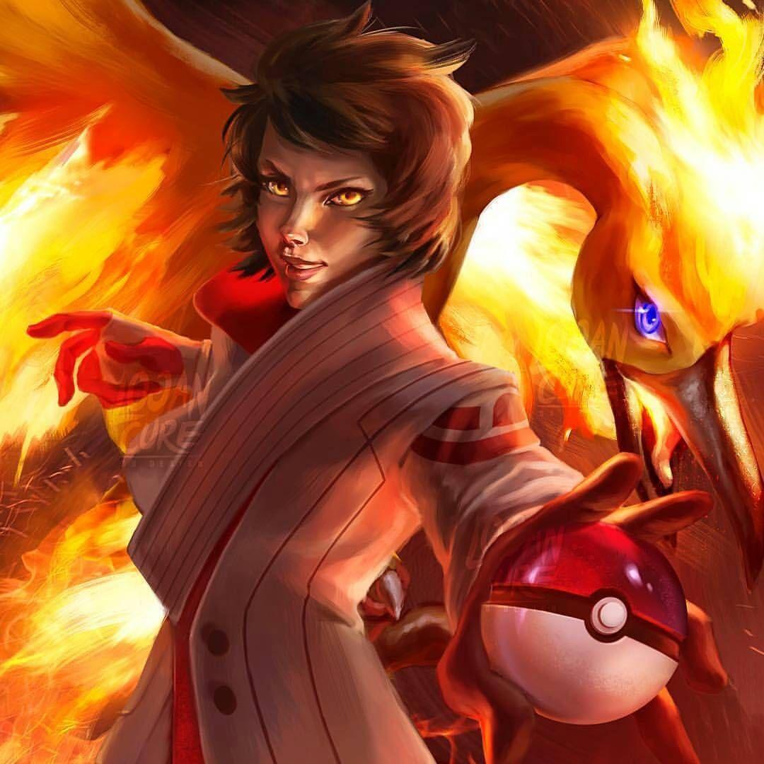 Candela team valor leader pokemongo pokemon red tgif