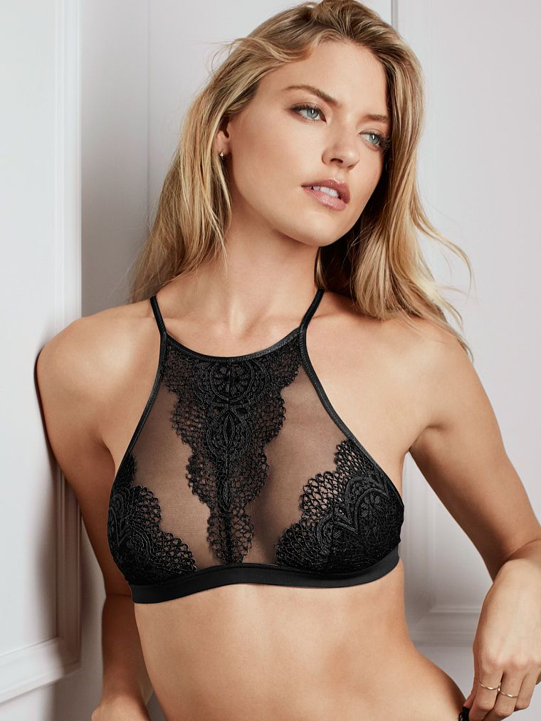 cdd28a373b Crochet Lace High-neck Bralette - Body by Victoria - Victoria s Secret