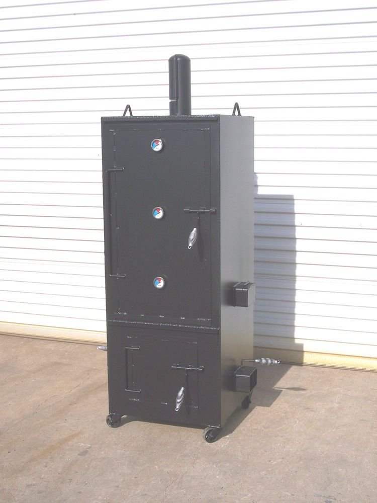 NEW Custom Vertical Patio BBQ Pit Smoker And Charcoal Grill Model 2x2
