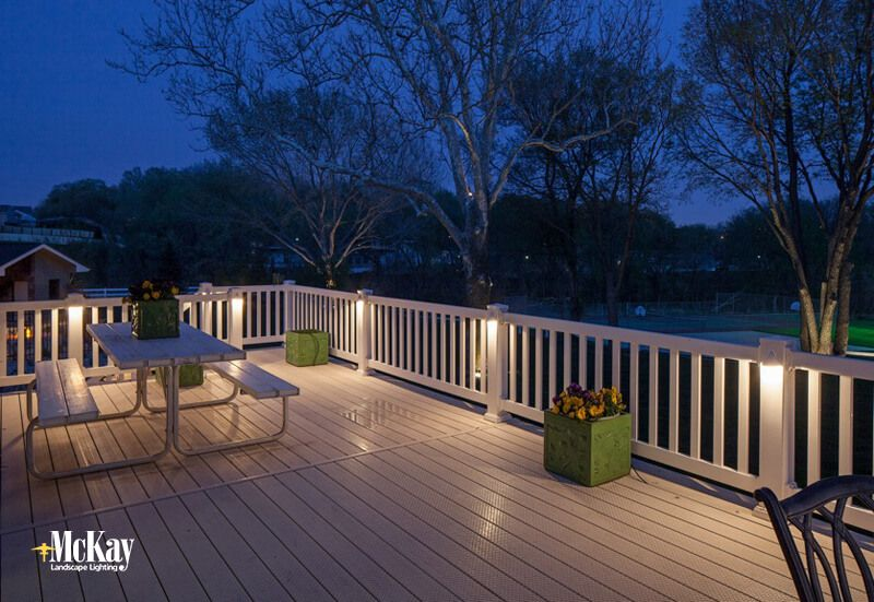 Deck post lighting residential landscape lighting Patio and deck lighting ideas