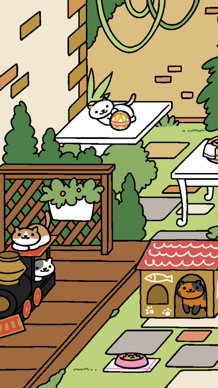 Finally Spud Came To Visit At The Cardboard House Neko Atsume