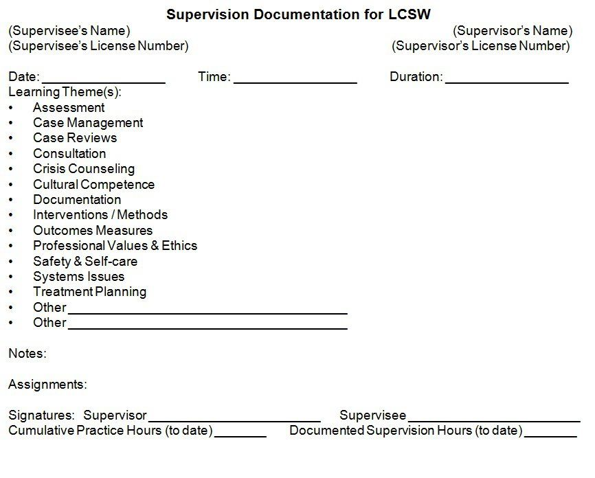 In our LSW\/LCSW Prep classes we recommend LSWs use this form to - class evaluation template
