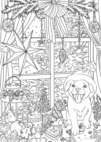ready for christmas  printable adult coloring adult coloring pages adult coloring book pages
