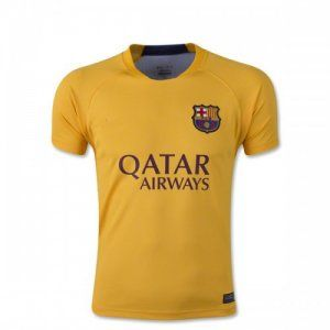 16-17 Football Shirt Barcelona Cheap Yellow Replica Training Shirt [F722]