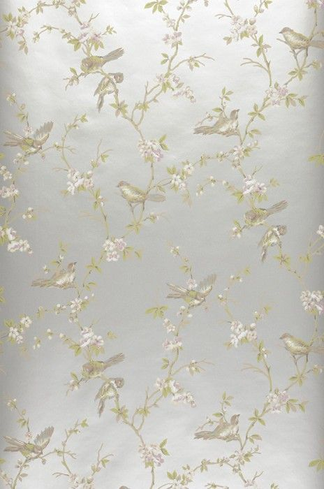 Papier peint Thelma Silver chinoiserie wallpaper