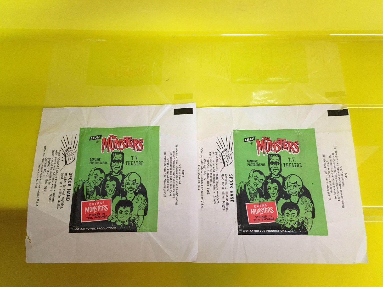 Creature from the Black Lagoon 168249: 2 0Riginal1960 S Munsters Trading Cards Wrapper, Great Condition Leaf -> BUY IT NOW ONLY: $50 on eBay!