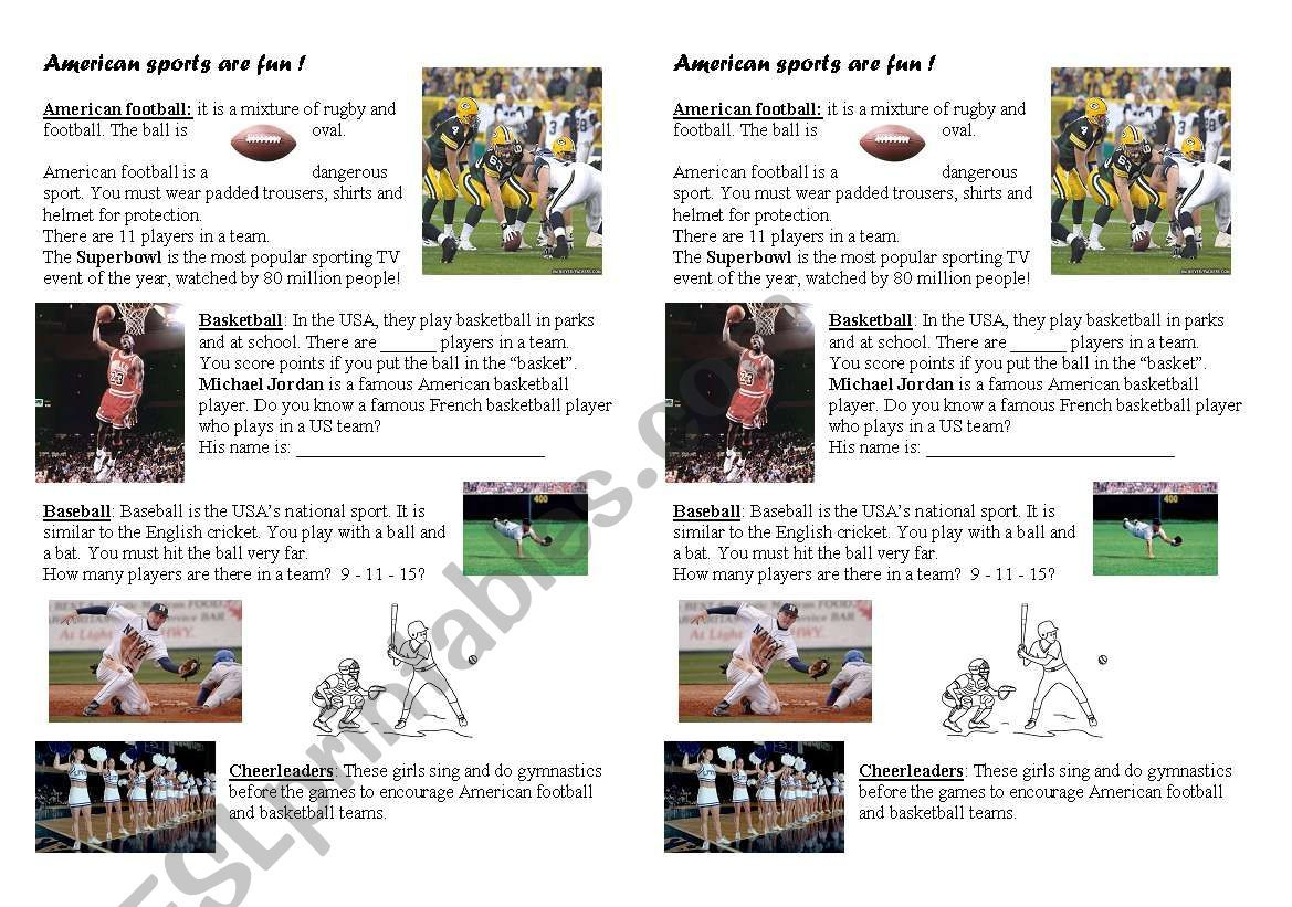 American Sports Are Fun