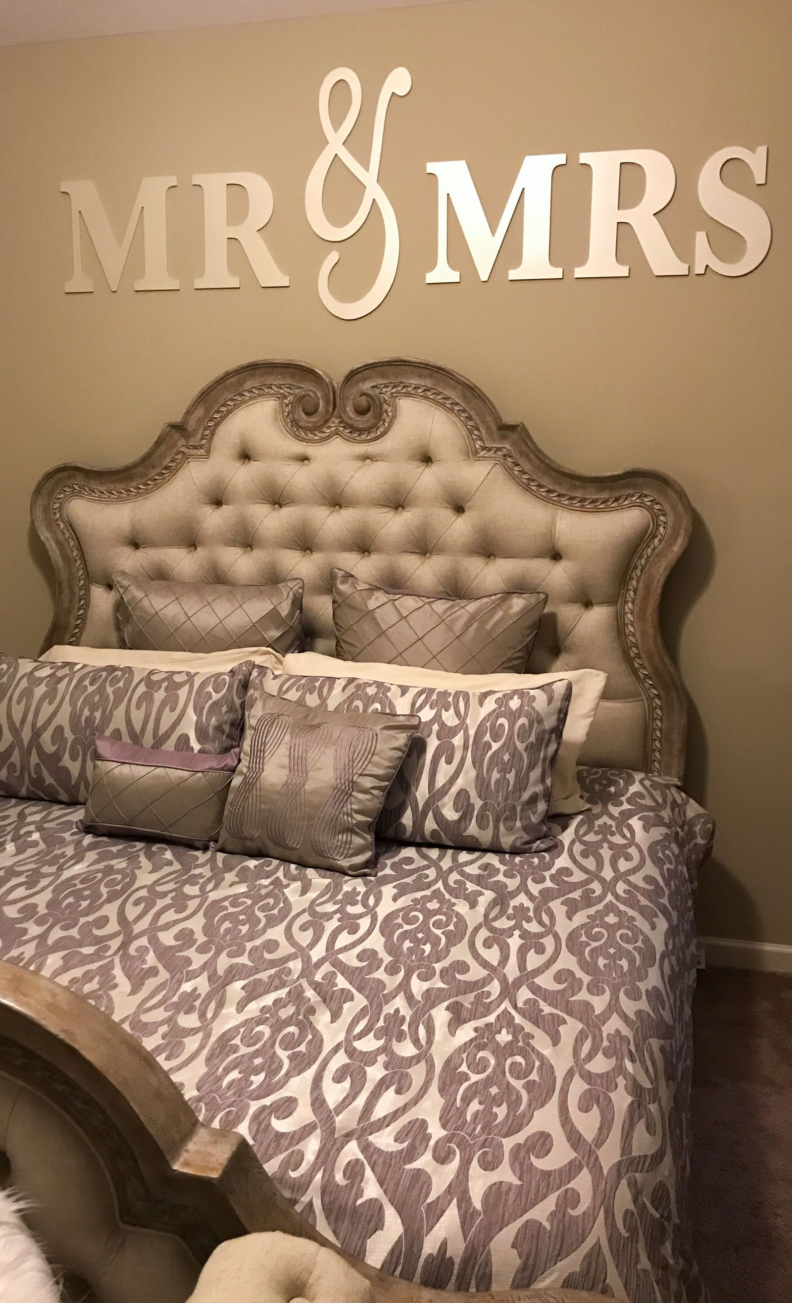 Mr Mrs Wall Sign Above Bed Decor Mr And Mrs Sign For Over