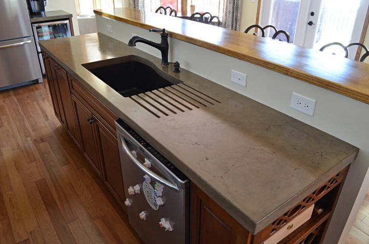 A Primer On Concrete Countertops Precast Vs Pour In