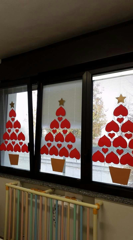 Decorare Finestre Per Natale Scuola decoración navidad (con immagini) | decorazioni di natale