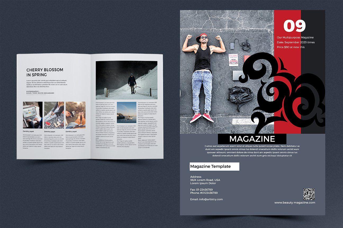 New Magazine Affiliate Size Editable Letter Margin