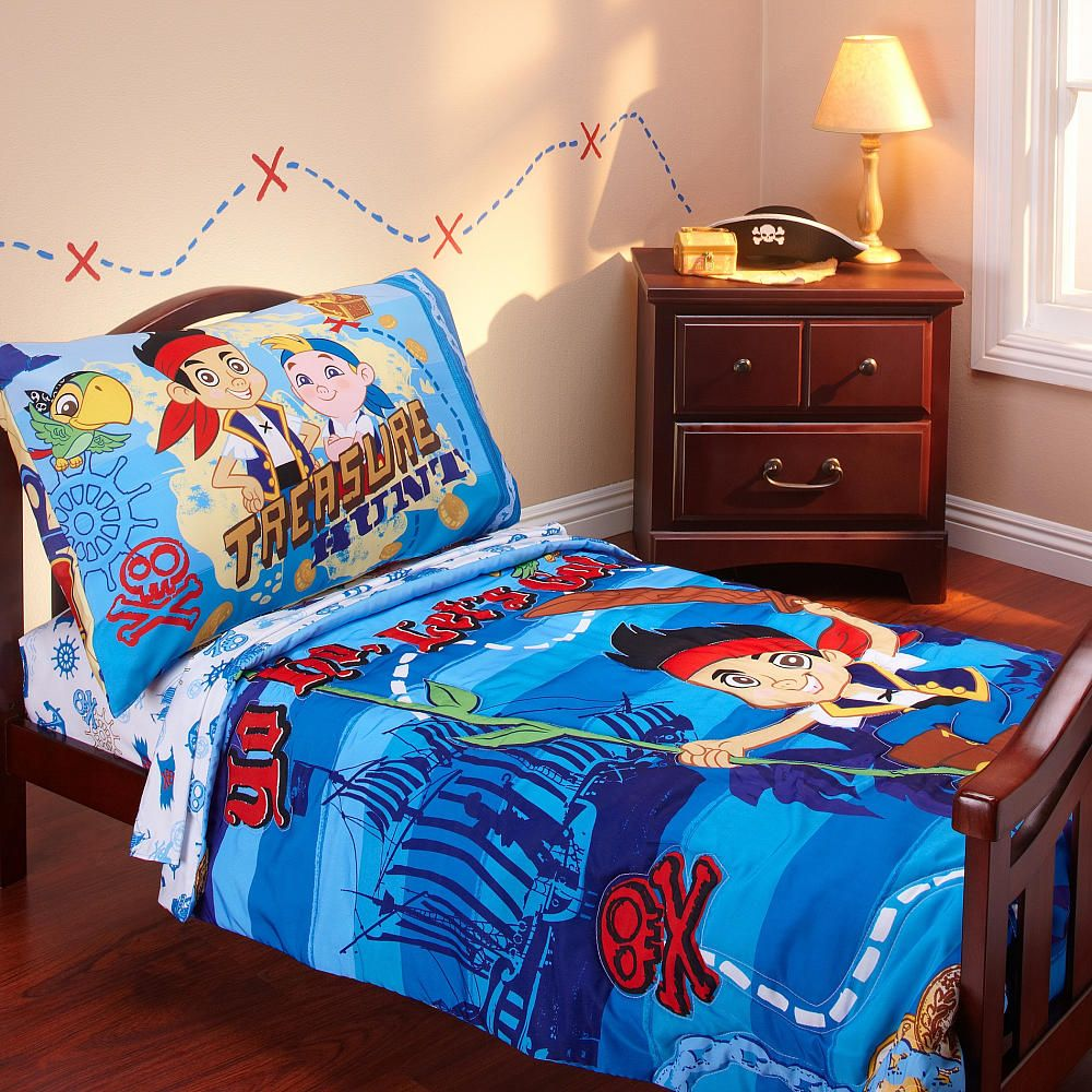 Disney Jake & The Neverland Pirates - 4-Piece Toddler Bed ...
