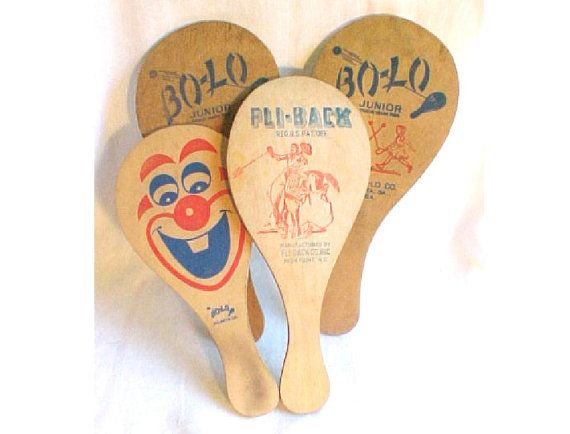 Wooden Paddle Ball Game Mixed Media Supply Wood Paddles BoLo FliBack Paddle Ball 4