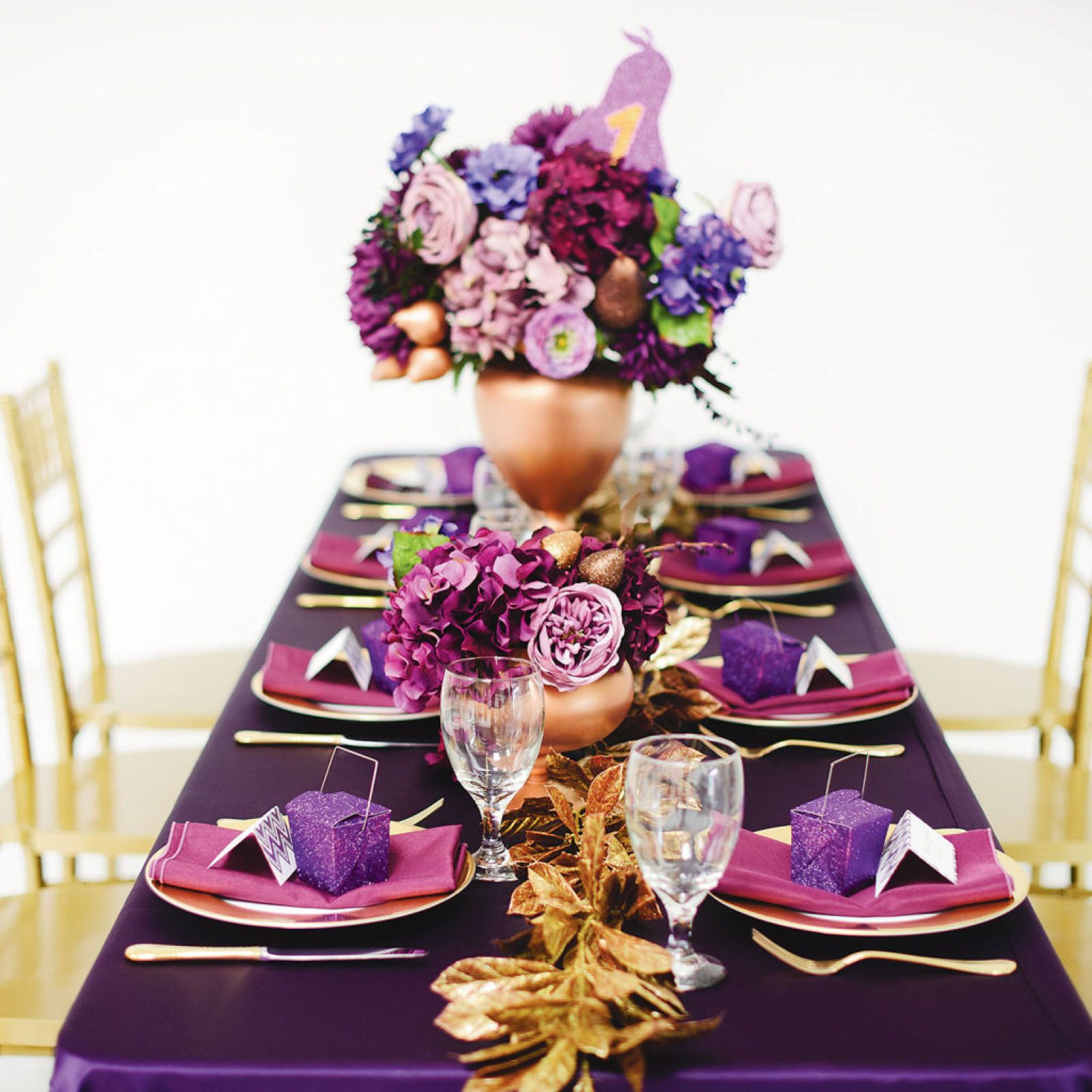 Purple Luxe Wedding Diy Centerpiece Wedding Centerpieces
