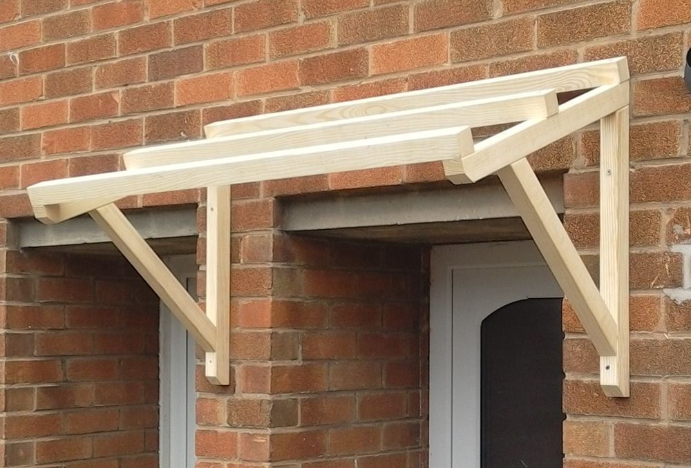 Timber Front Door Canopy Porch Hand Made Porch (120cm)