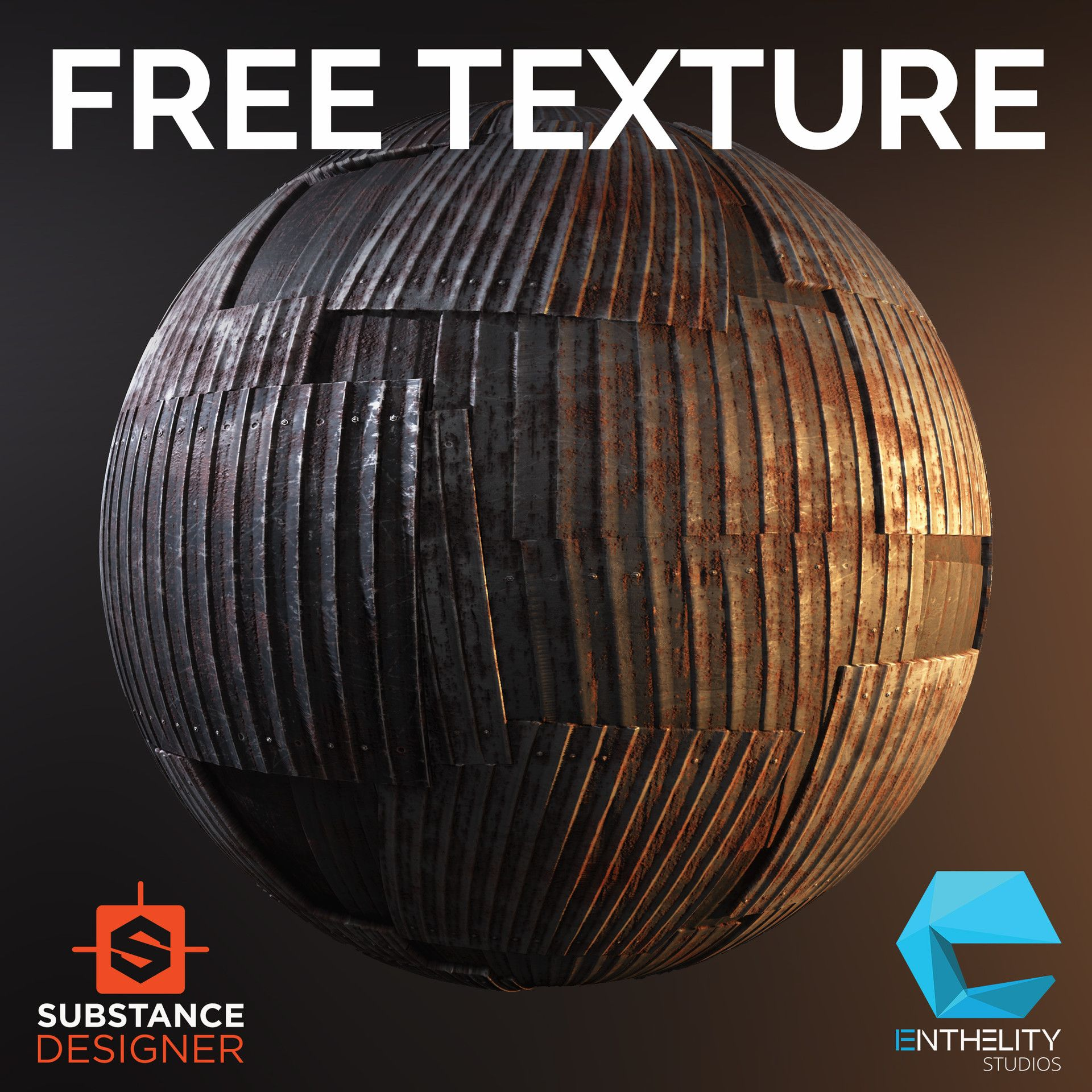 ArtStation - Corrugated Metal - Free Substance Texture