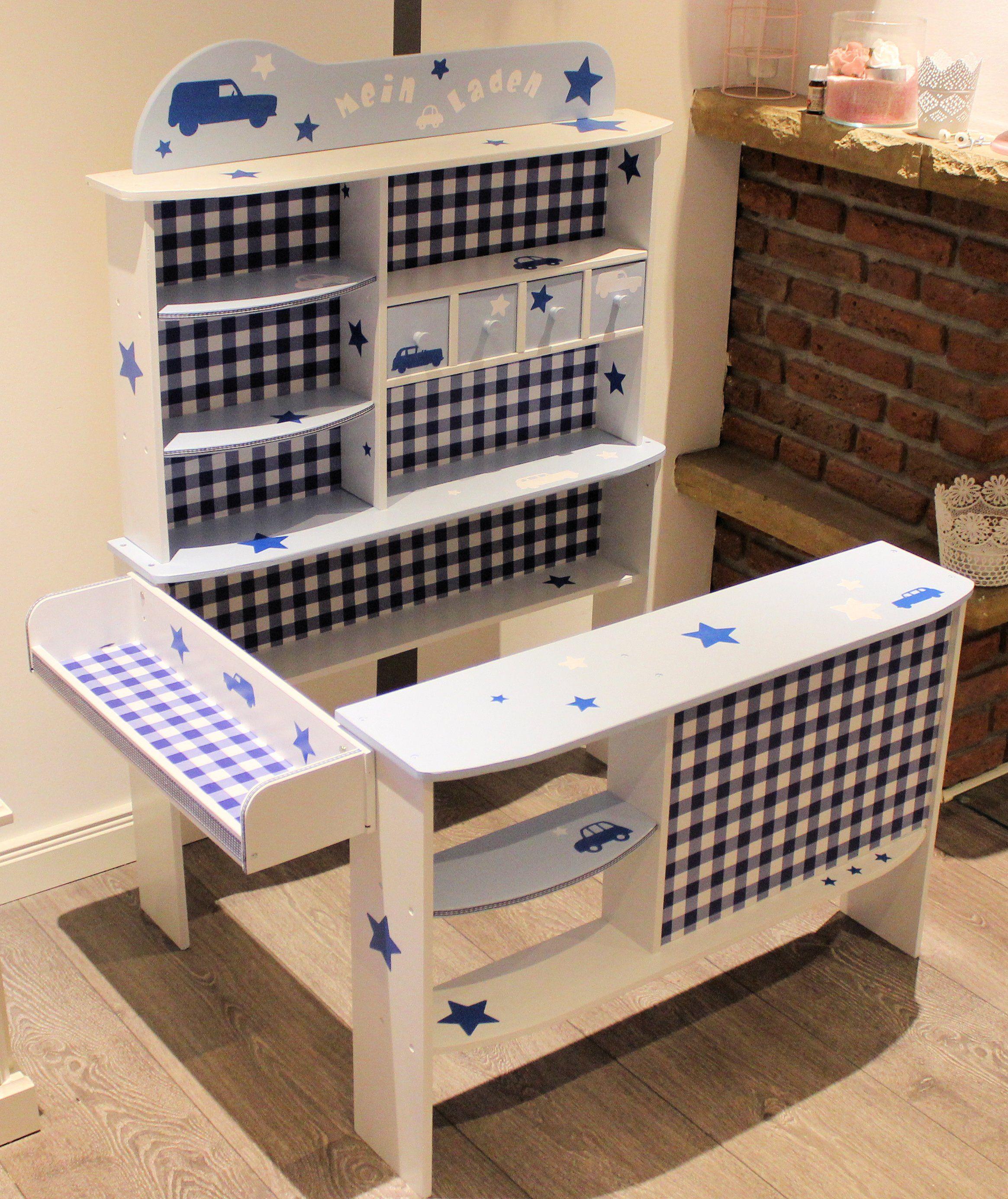 kaufladen wei blau kaufladen und kinderk che pinterest kaufladen wei kaufladen und. Black Bedroom Furniture Sets. Home Design Ideas
